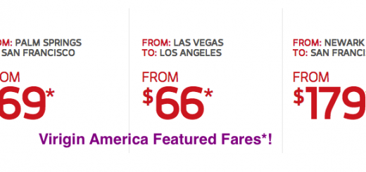 Virgin America Deals of the Week!