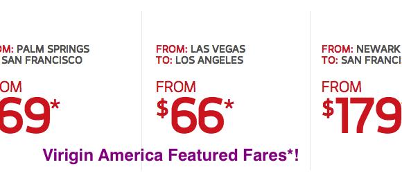Virgin America Deals of the Week!