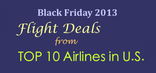 black friday 2013 flight deals from top 10 airlines in US