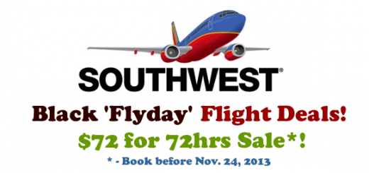 Black Friday Southwest Airlines Flight Deals November 2013