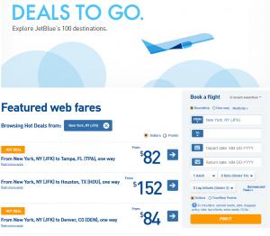 Jet Blue Deals