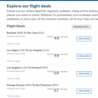 Alaska Air cheap fares $49 to $160