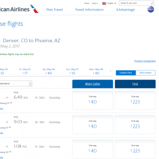 American Airlines Flight Deals 4.17.17
