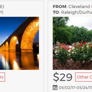 Cleveland to Minneapolis $29 flights one-way